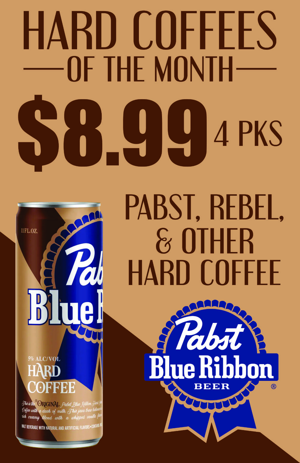 """Fort Wayne's Featured """"Brews"""" of the Month - December 2020 features All Hard Coffee 4pks! On Sale at all S&V Liquors stores across Fort Wayne, New Haven, Churubusco, Garrett, and Woodburn!"""