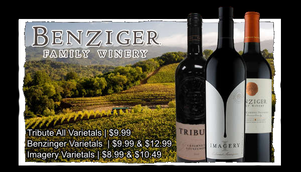 Fort Wayne's Featured Wineries of the Month at S&V Liquors! March 2021 Wine Features Benziger's Family of Wineries at all S&V Liquors stores across Fort Wayne, New Haven, Churubusco, Garrett, and Woodburn!