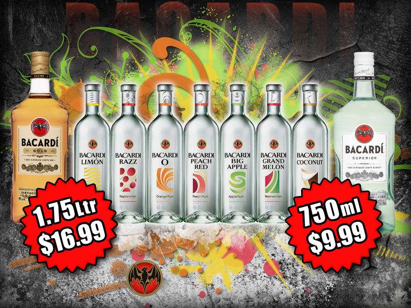Fort Wayne's Featured Spirit of the Month at S&V Liquors! June 2021 Spirits Feature is Bacardi's Family of Rums! On sale at all S&V Liquors stores across Fort Wayne, New Haven, Churubusco, Garrett, and Woodburn!