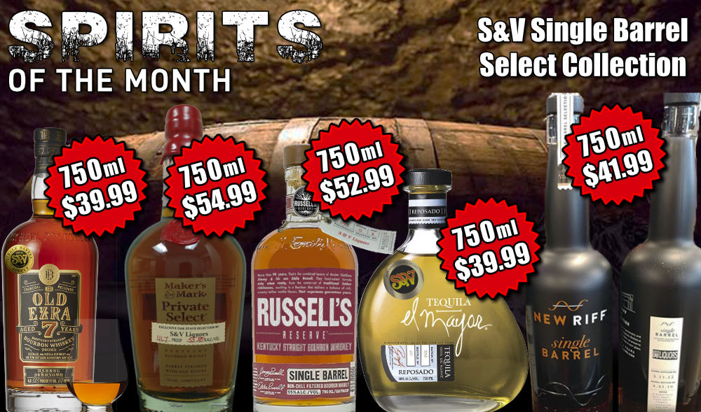 Fort Wayne's Featured Spirit of the Month at S&V Liquors! September 2021 Spirits Feature is S&V's collection of Barrel Select Spirits! On sale at all S&V Liquors stores across Fort Wayne, New Haven, Churubusco, Garrett, and Woodburn!