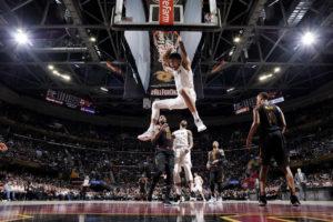 "In a ""team"" effort, Washington Wizards defeat Cavaliers 110-103"