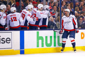 Ovechkin scores twice; Caps win 6-3 and advance to second round