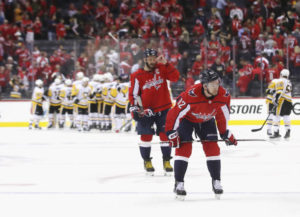 Capitals give up 3 goals in 4:49; fall in game one