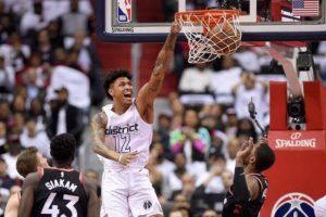 Wizards down 0-2, claim explosive win in Game 3 against Raptors