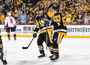 Caps offense stalls, Penguins tie series 2-2