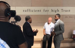 Torrey Smith and David Tepper Meet With District Attorney Spencer Merriweather to Discuss Bail Reform (Video)