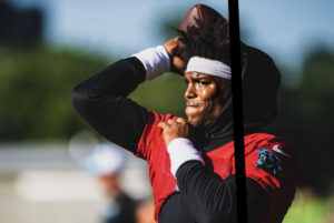 All Eyes on QB1 as Cam Newton Returns to Action at Panthers Minicamp (Video)