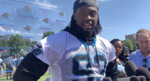 Gerald McCoy Excited After Panthers Debut at Minicamp (Video)