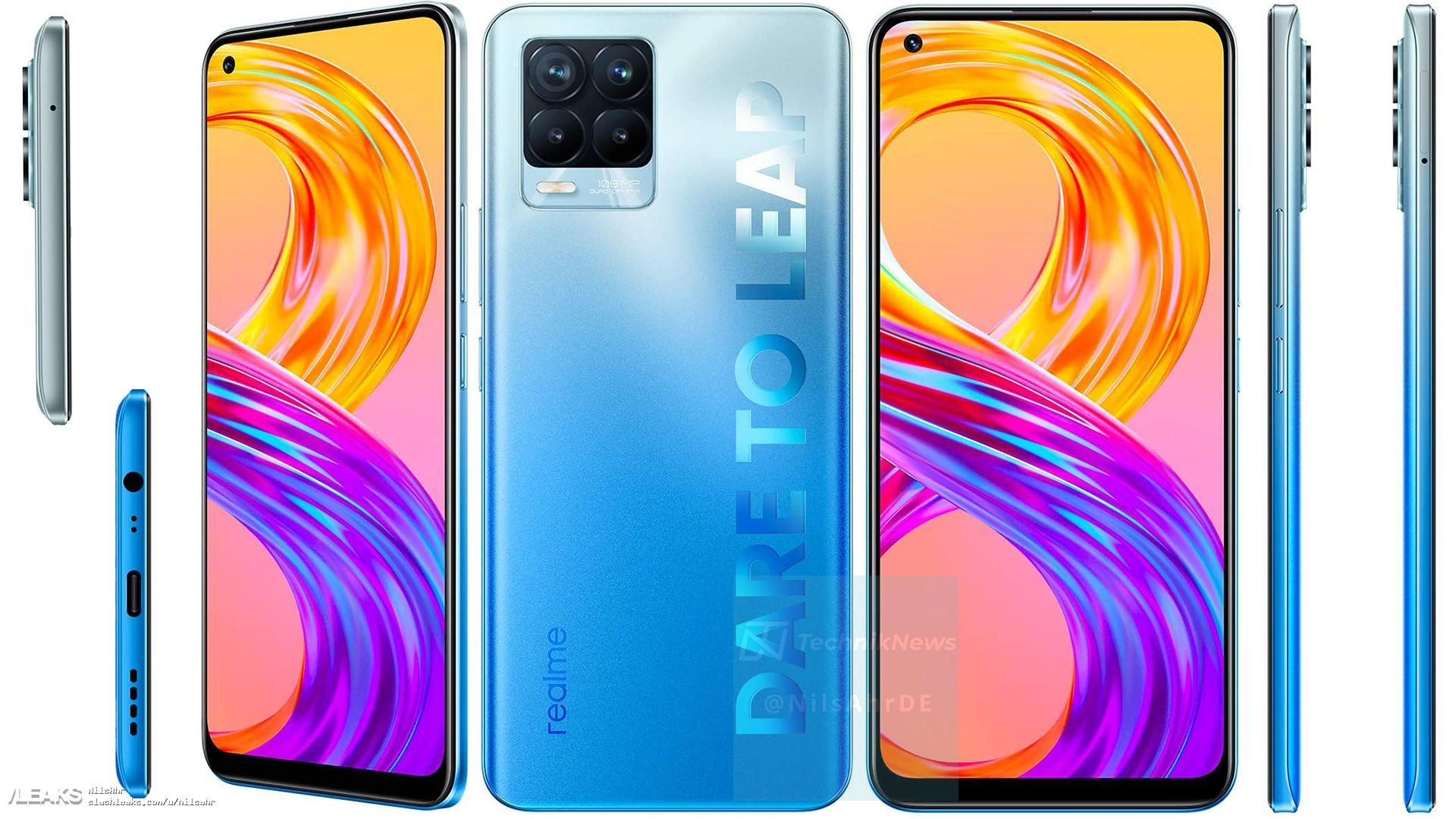 Realme 8 5G and Realme 8 Pro 5G are expected to be launched in India soon. Show vanilla model image-wittyculture