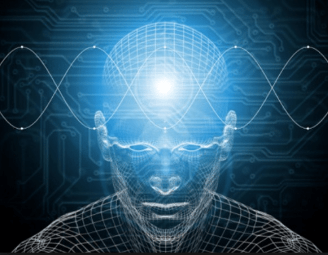 visual depiction of theta waves directly stimulating the subconscious mind