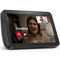 ECHO SHOW 8 WITH A CALL FROM GRANDMA ON THE DISPLAY