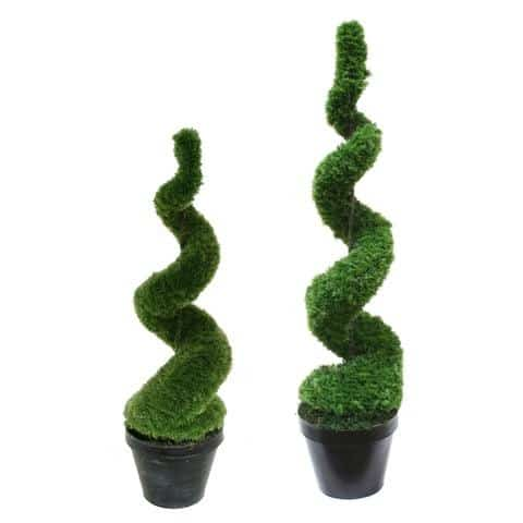 Artificial Spiral Moss Topiary