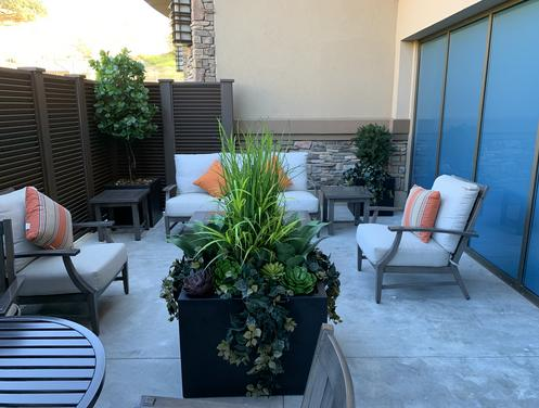 artificial Outdoor plants for hospitality suites