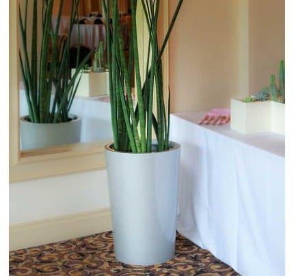 Round vase fiberglass planter