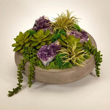Handcrafted Succulent Arrangements designed and built in Pacific Silkscapes