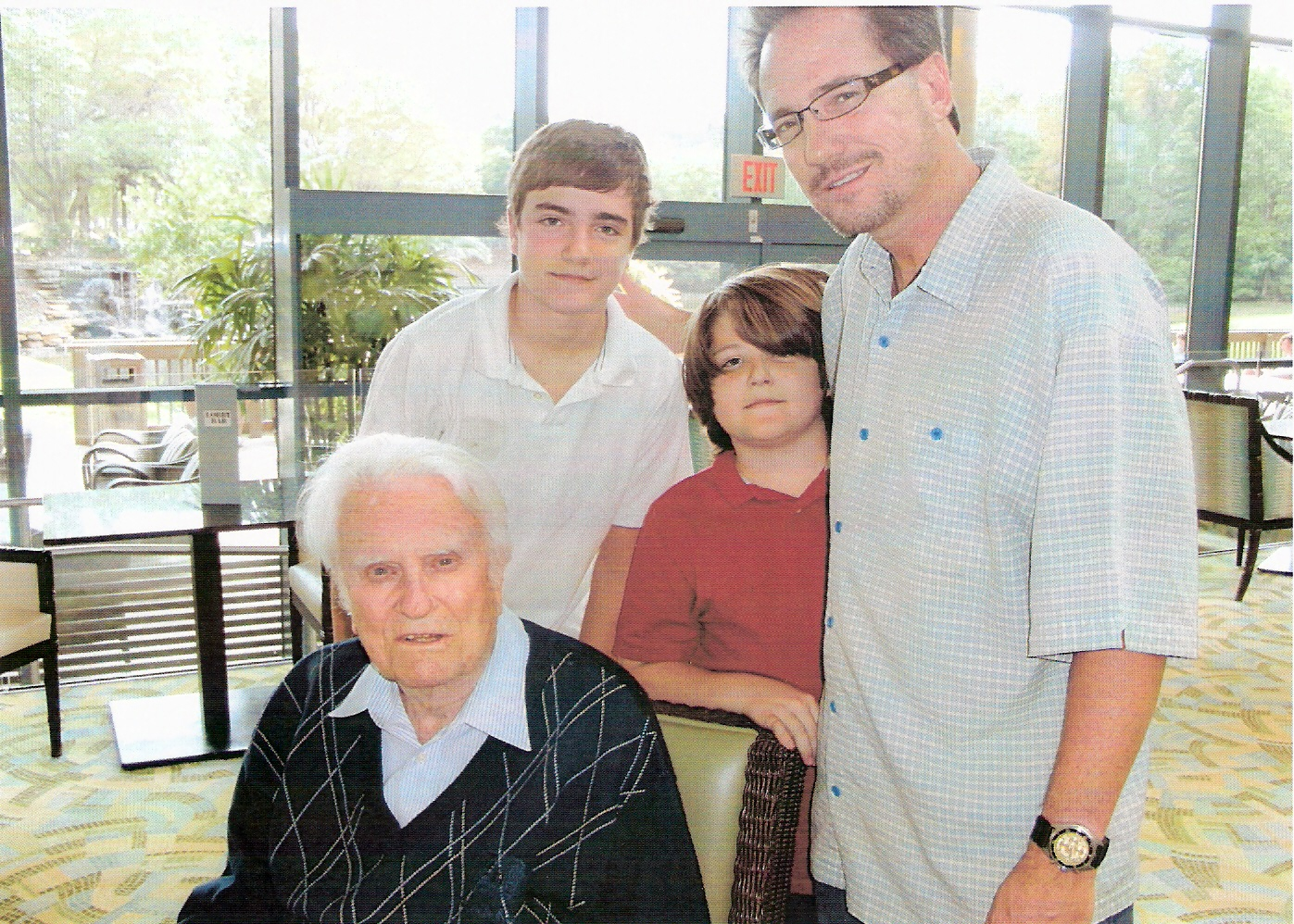 Pastor Keith and sons with Billy Graham