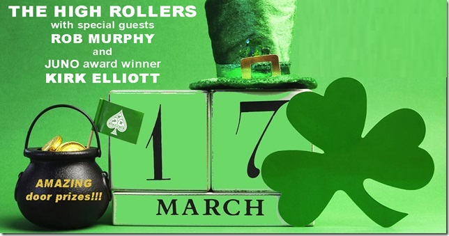 bala Legion Concerts Presents The High Rollers on March 17th at Bala Legion Branch 424