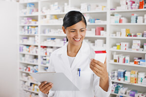 Employee in pharmacy