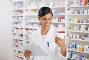 Employee in pharmacy