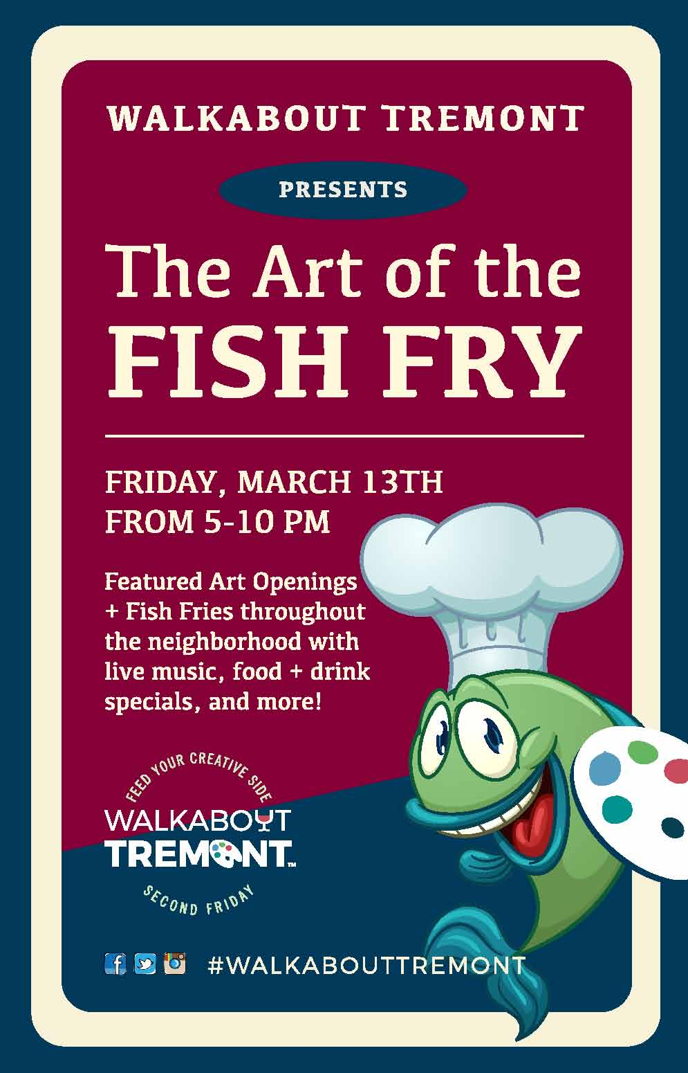 "ART, FISH FRIES AND WALKABOUT TREMONT CONVERGE FOR THE ""ART OF THE FISH FRY"""