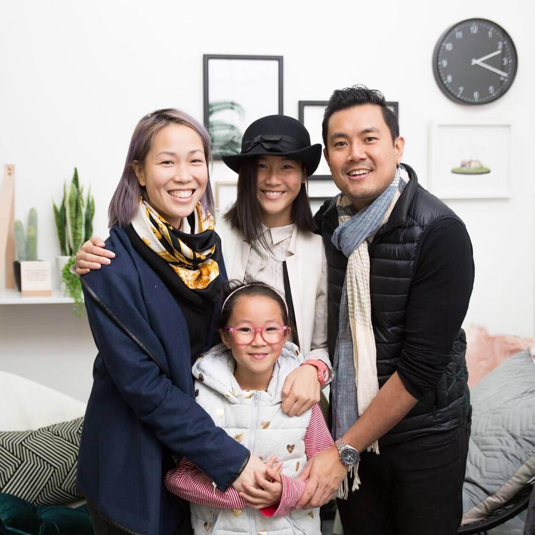 Choosing EyeWonderlust for Eyelash Extensions - Master Lash Artist Grace and Her Family Picture