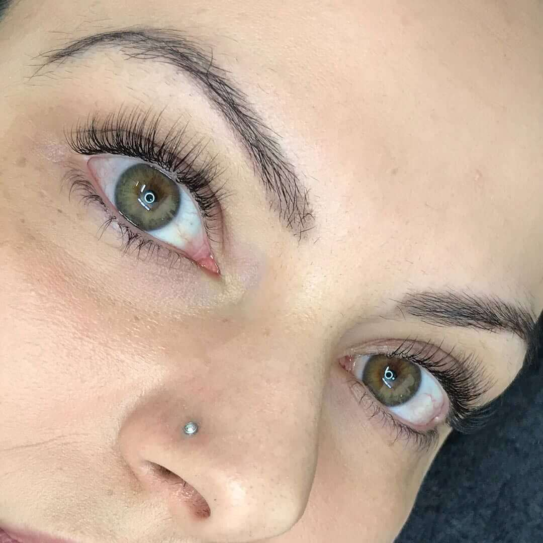 Eyewonderlust Choosing to Use Faux Mink Lashes Blog - Faux Mink Lashes on Girl with Nose Piercing