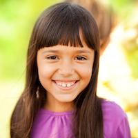 Girl in purple shirt