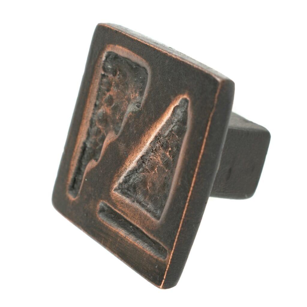 Arrowhead Cabinet Knob Bronze