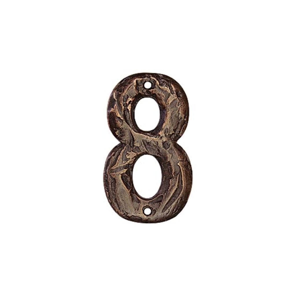House Number Rustic 8 Bronze
