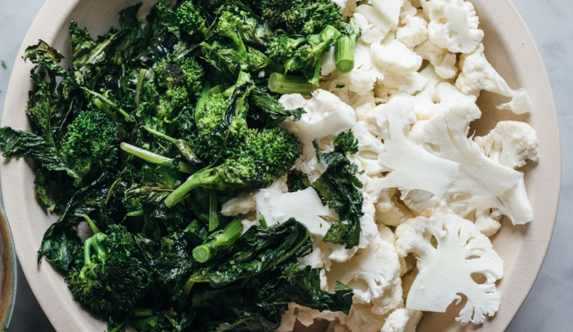 broccoli rabe and cauliflower