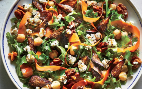 Arugula and Fig Salad with Goat Cheese and Walnuts
