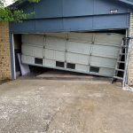Garage Door Repair Tulsa 16X7 Residential Garage Door Drove Into With Car Before