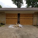 Garage Door Repair Tulsa 2 Single Garage Doors To One Before