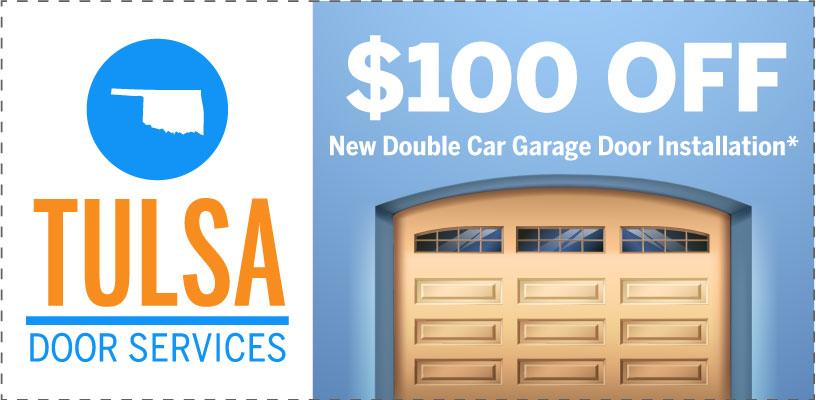 Tulsa Garage Door Services 100 Dollars Off Double Car Garage Door Installation Coupon Promotion
