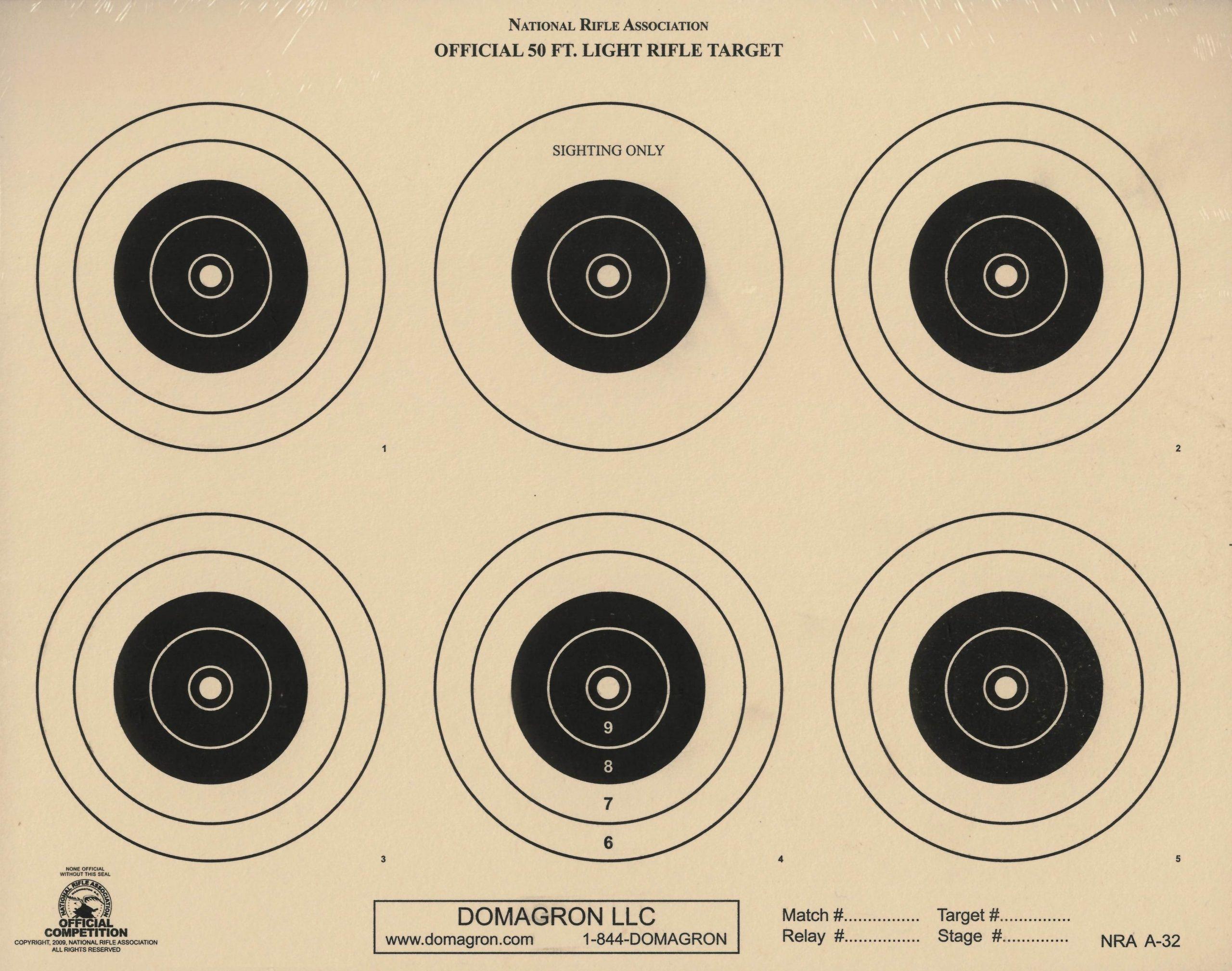 Smallbore 3-position target