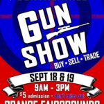Fall 2021 Gun Show Flyer September 18 - 19