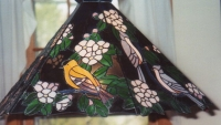Song bird lamp- goldfinch