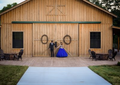 The front view of the Sage Creek Farm Barn Venue