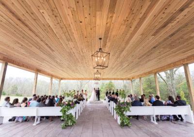 Wedding Ceremony Setup Under The Oakmont Pavilion