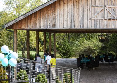 A view of the pavilion at Sage Creek Farm