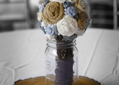 Rustic bouquets boy baby shower