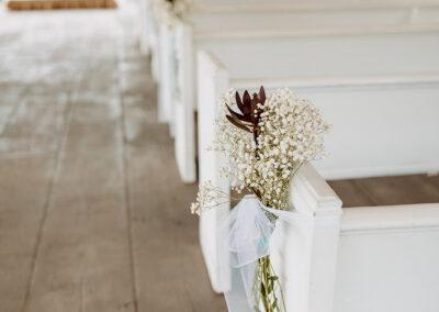 Michaela + Lucas Wedding Pews