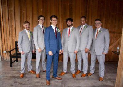 Jonathan and his groomsmen