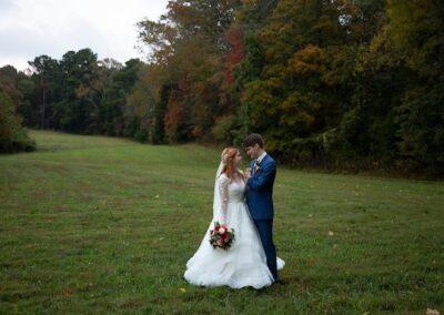 The happy couple enjoying our treeline