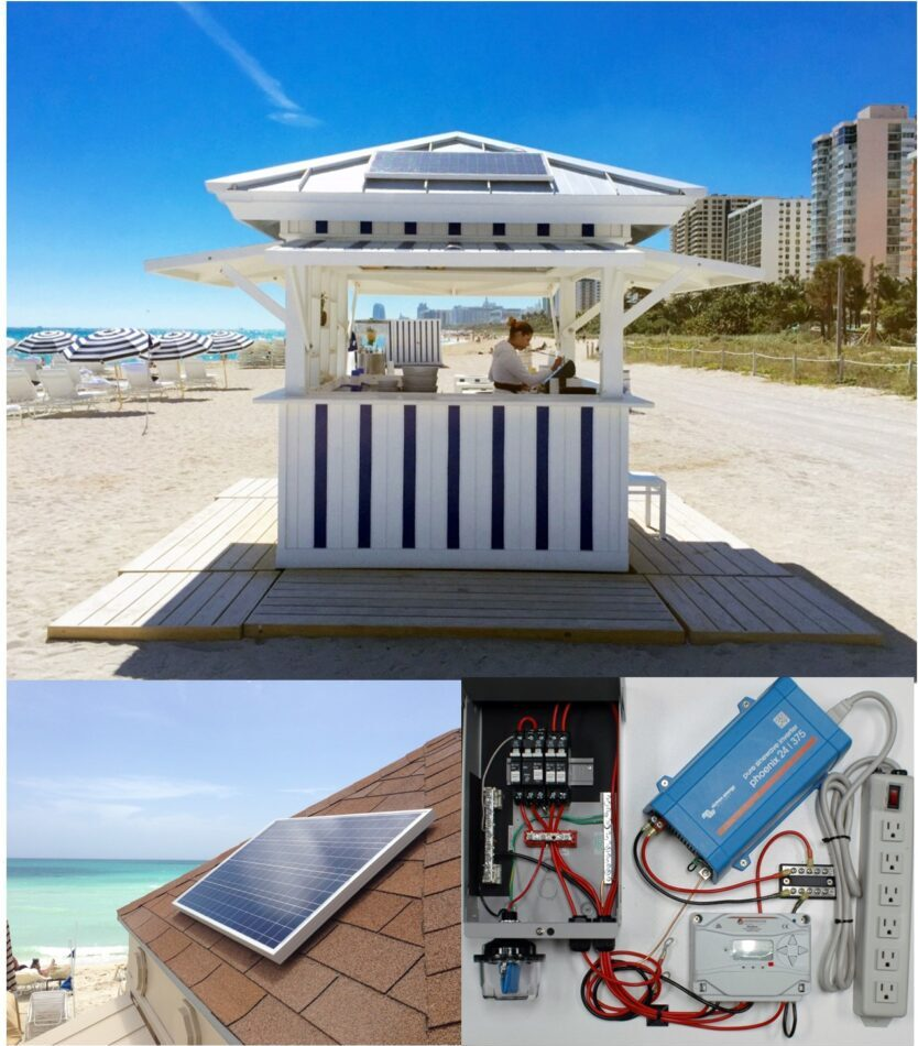 We have done over 50 of these systems for the Grand Hotels on<br>Miami Beach, St Simon's Island, Georgia and Baha Mar in the Bahamas.<br>They need power to swipe credit cards and network.