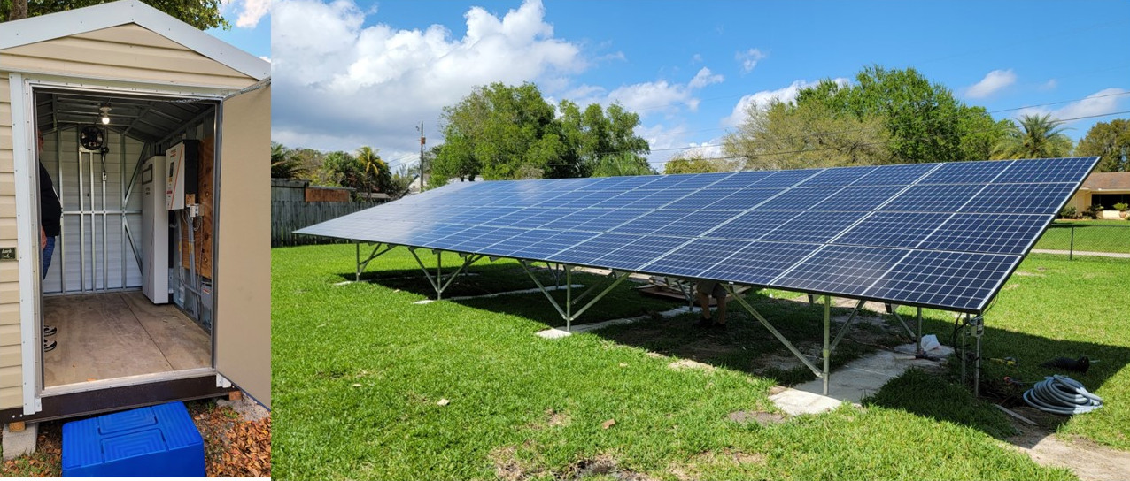 11.52kW Ground Mount Solar Array with 11.5kWh Battery Back-up - Davie, FL
