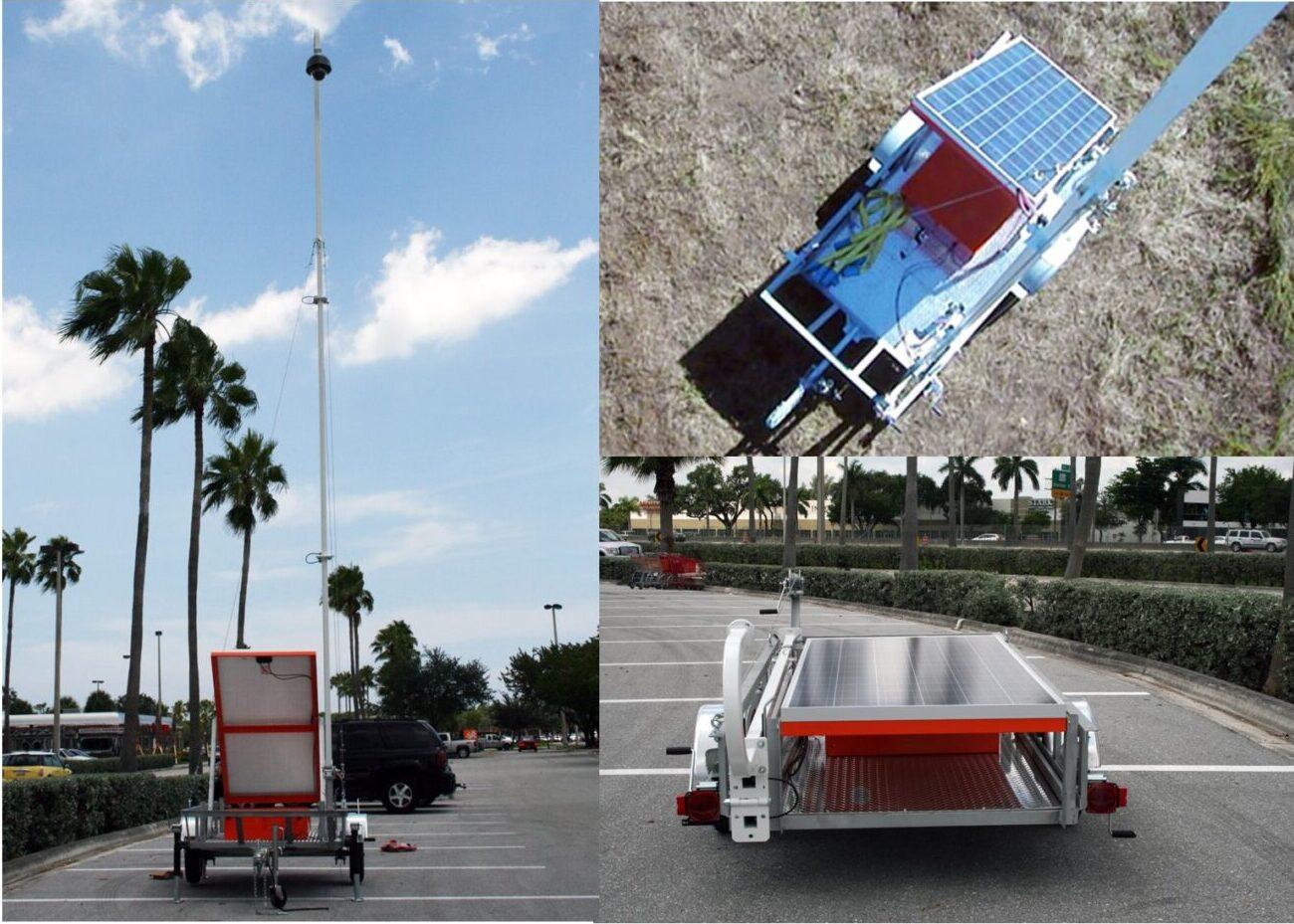 Mobile CCTV Solar Trailer - (JES Design)