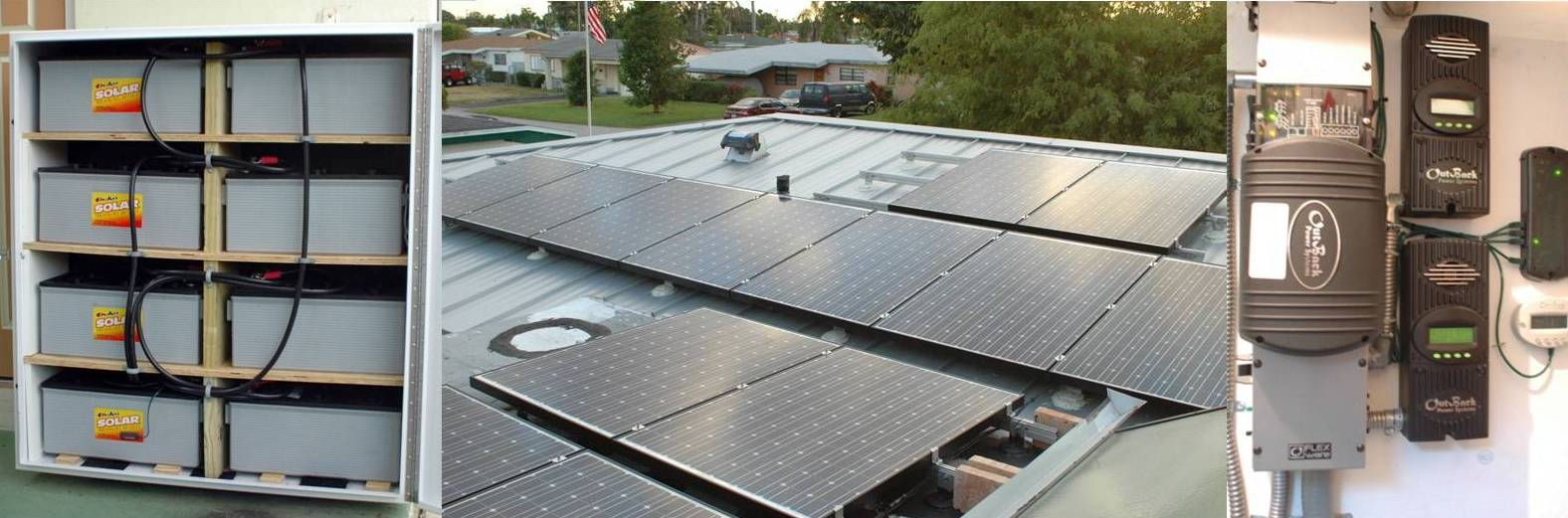 3.3kW Grid-Tied Outback system with 11kWh Battery Back-up - Miramar, Florida
