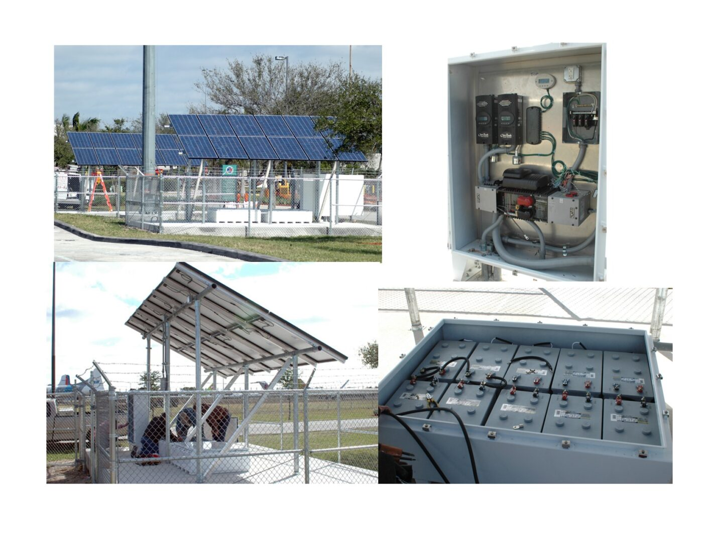Opa Locka Airport - 4.8kW 'Off-Grid', Solar Powered CCTV Security System with 54kWh of Battery back-up (One of Five Systems)