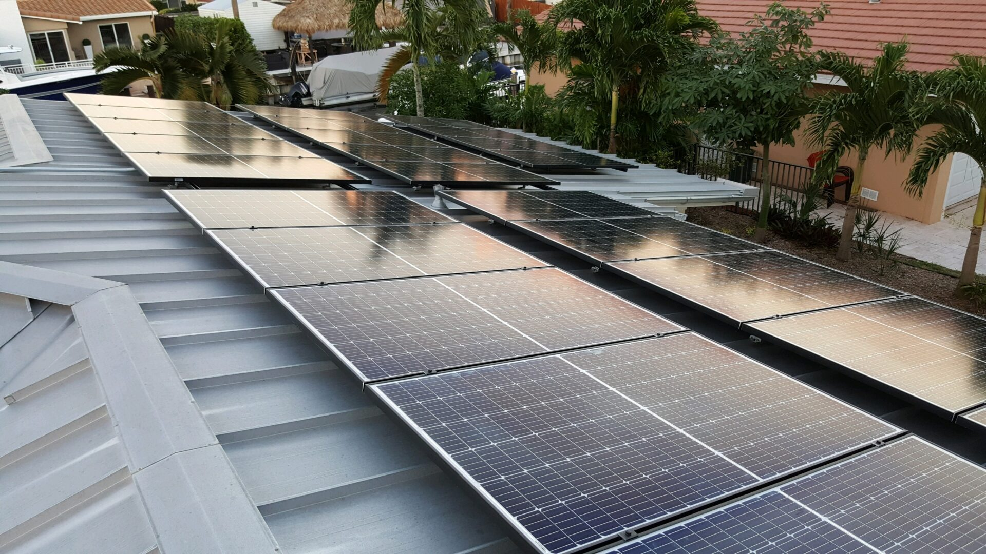 9.6kW Grid-Tied System on Standing Seam Roof - Plantation, FL